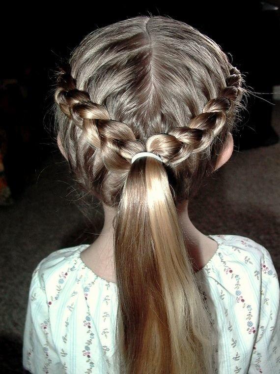 Плетение кос корзинка