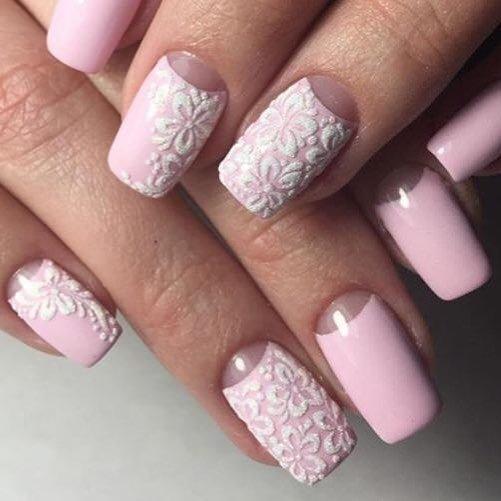 розовый приятный маникюр