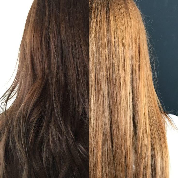 Результат декапирования волос