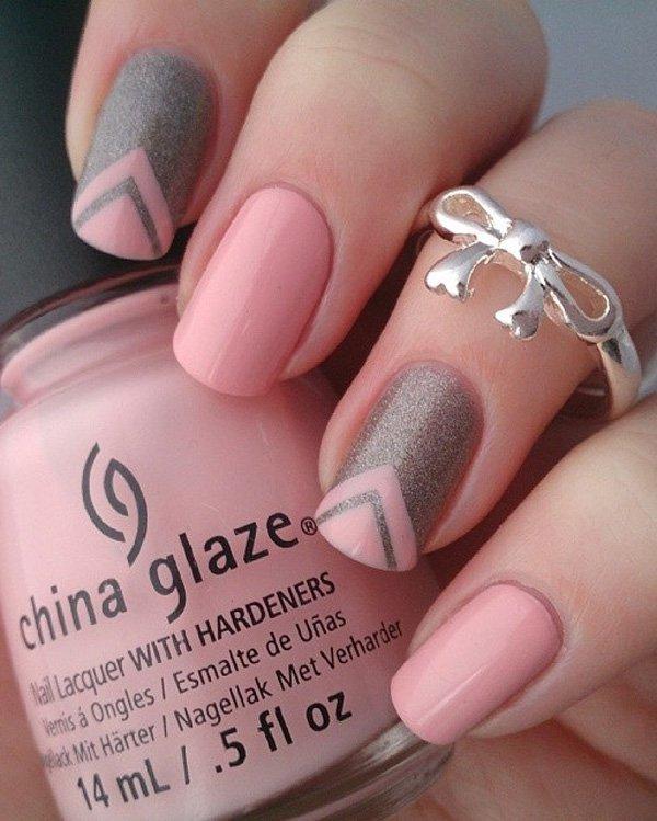 сочетание розового и серого