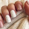 Маникюр вязаный: фото и пошаговая инструкция дизайна ногтей