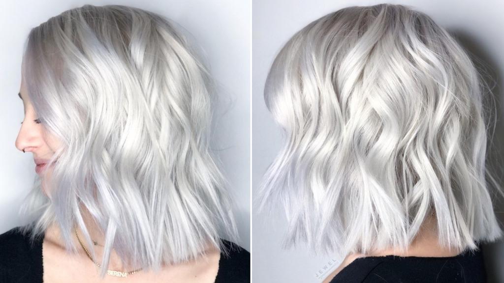 платиново-белый цвет волос
