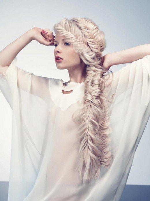 жемчужно-белый цвет волос