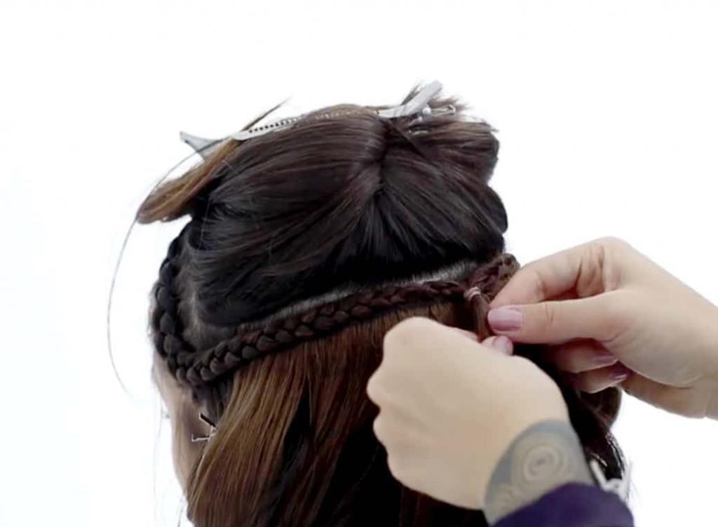 прически для волос с резинкой для волос
