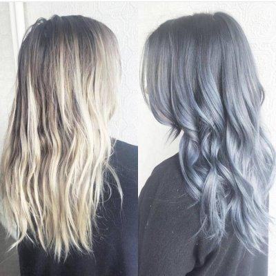 Седой цвет волос: оттенки и описание с фото