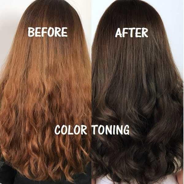 Тонировка темных волос