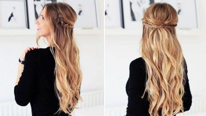 как уложить волосы длинные