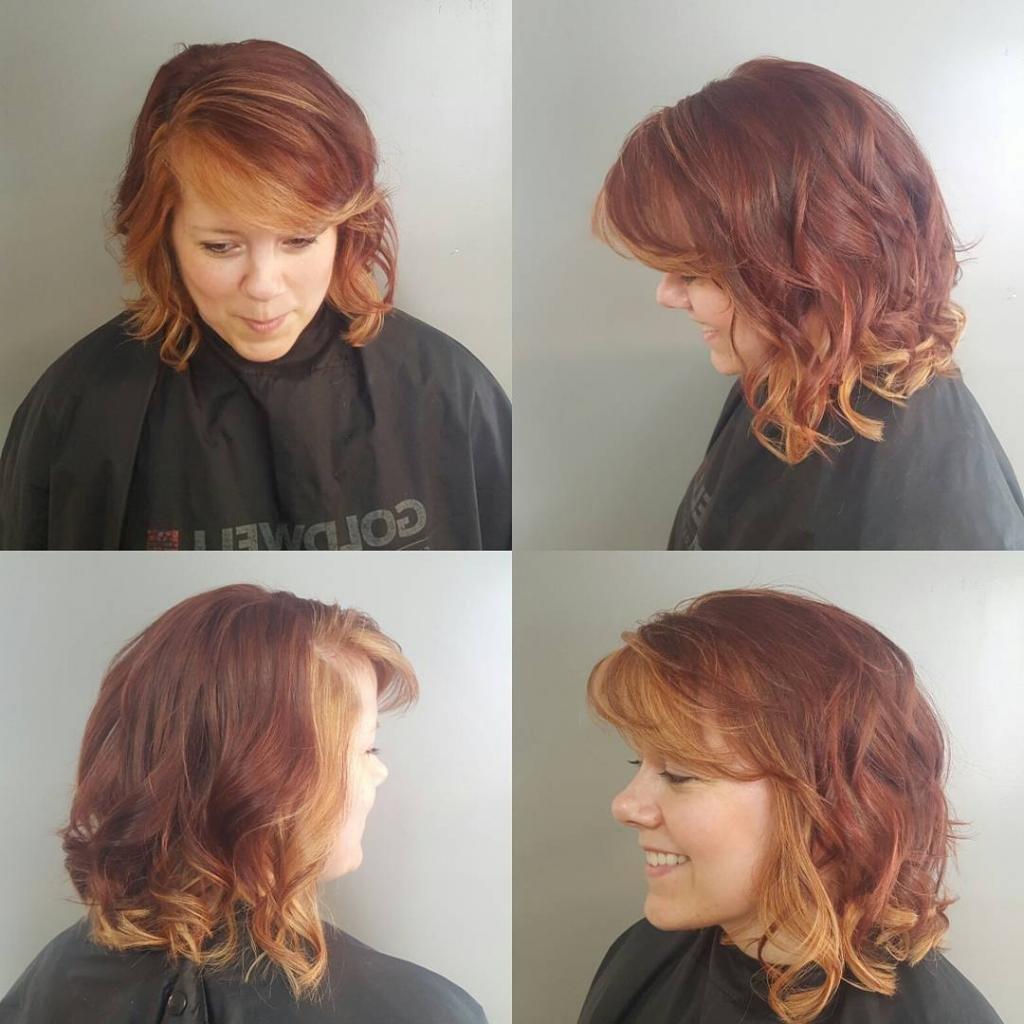 двухцветное окрашивание волос на короткие волосы