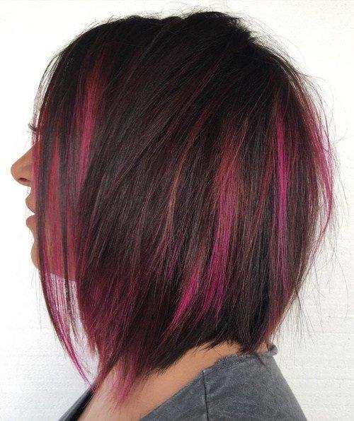 двухцветное окрашивание длинных волос