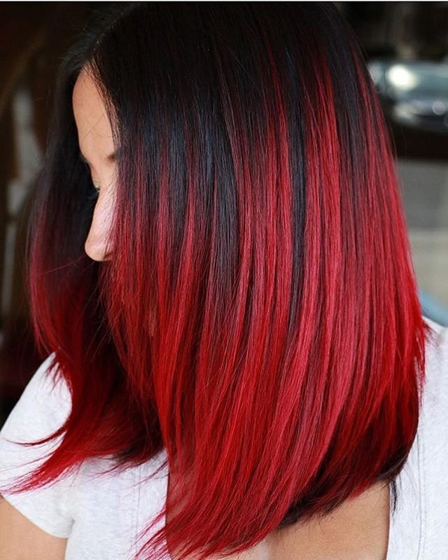Шатуш на рыжие волосы