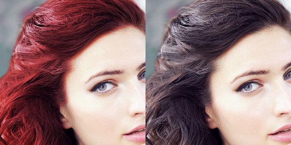 покрасить рыжие волосы в темный цвет