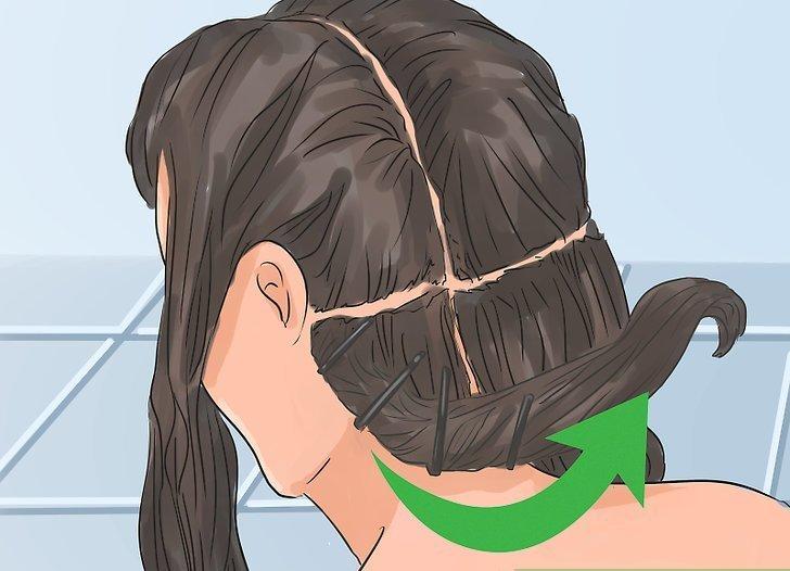 закрутить волосы