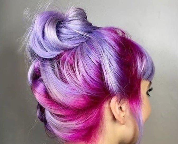 фото покраска волос в два цвета