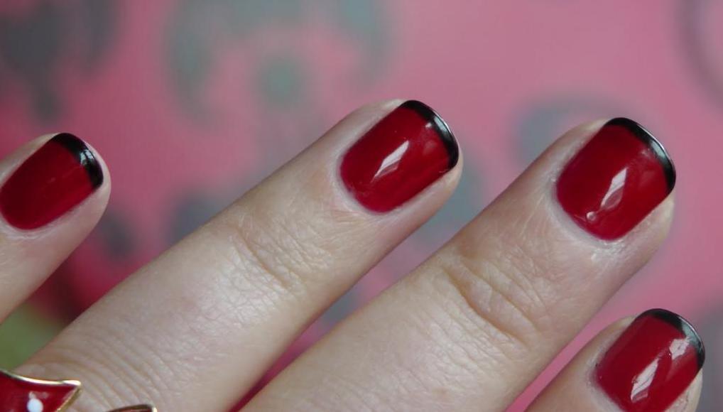 Красно-черный френч