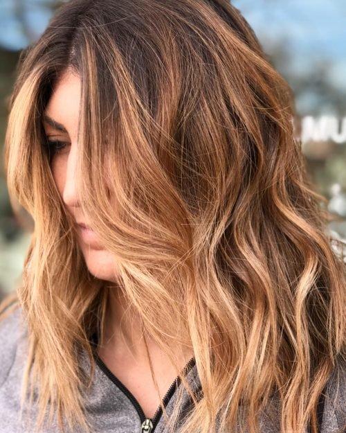 Медно-русый оттенок волос