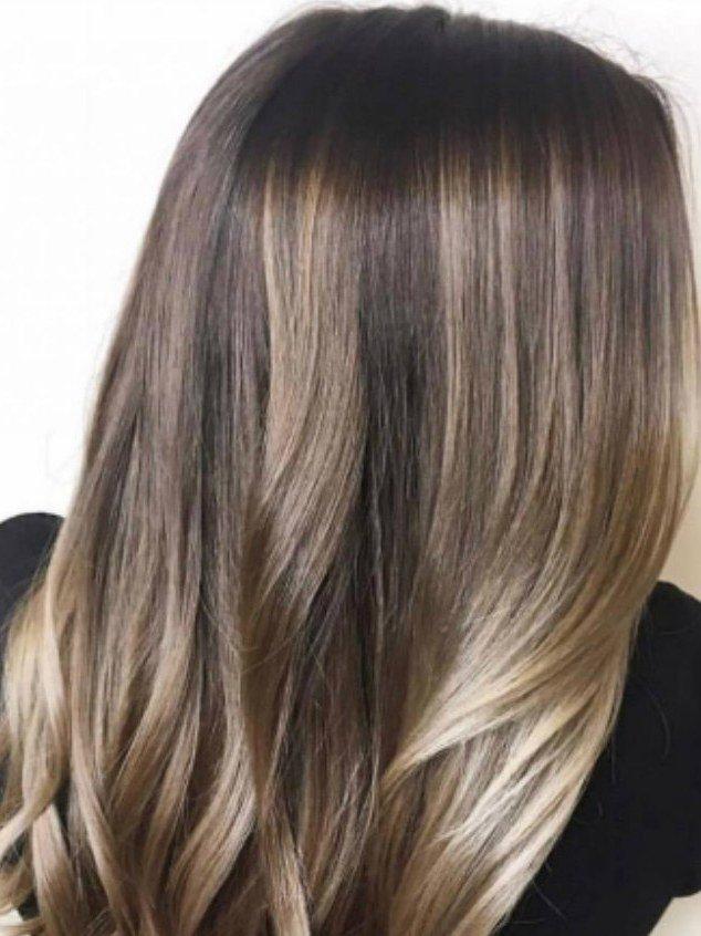 Кофейно-русый оттенок волос