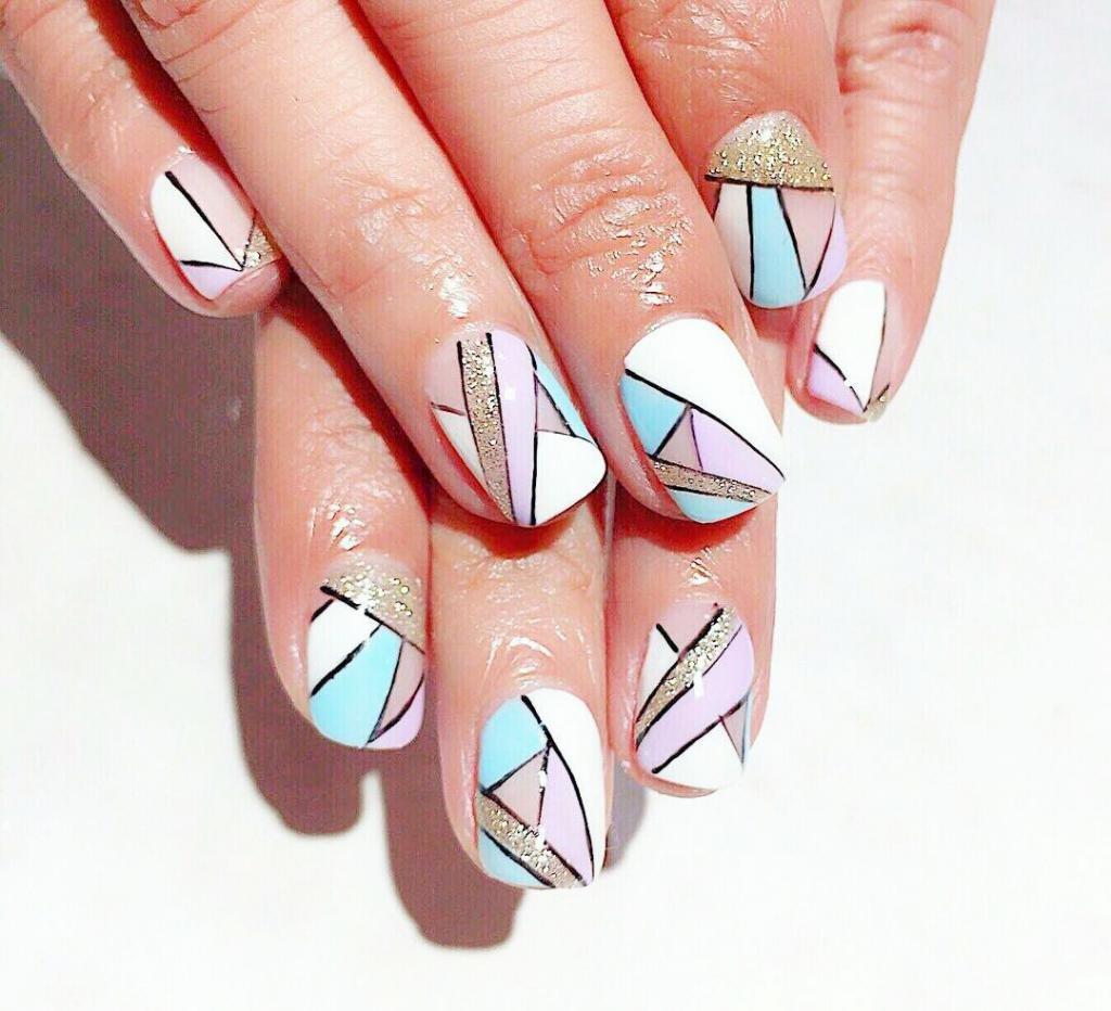 геометрия на ногтях
