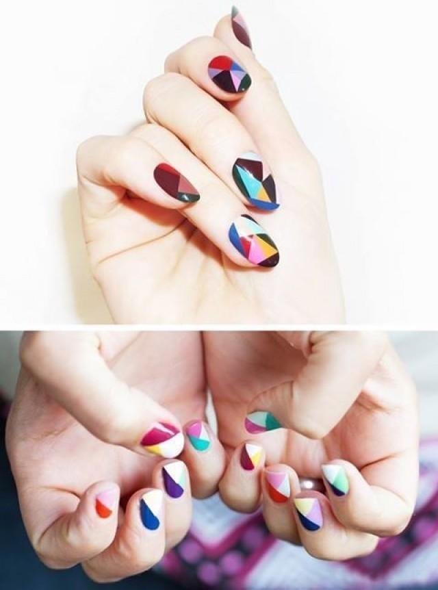 геометрия рисунок на ногтях