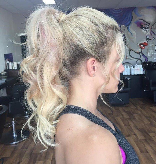 Хвост на вьющиеся волосы