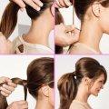 Как сделать небрежный хвост на длинные волосы. Прически с хвостом