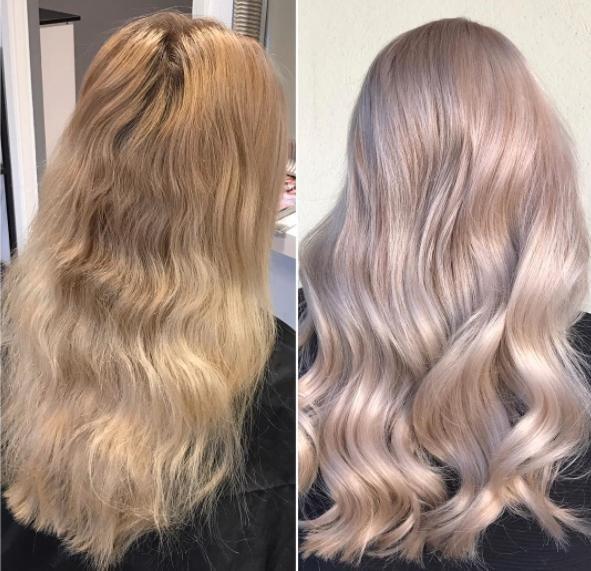 Результат тонирования русых волос