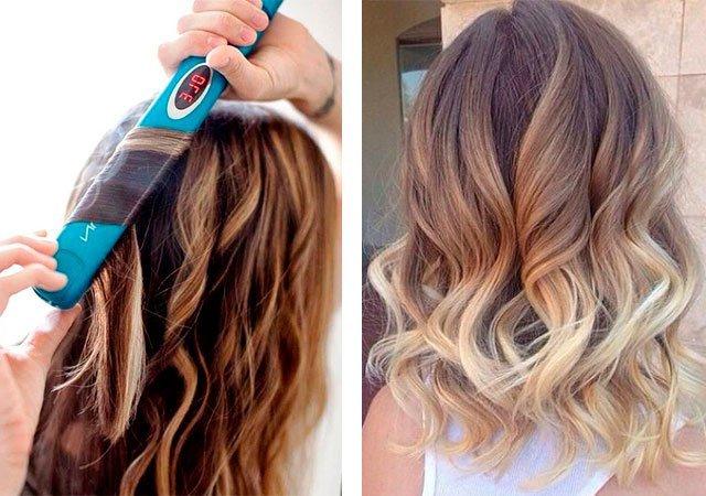 Как утюжком накрутить короткие волосы