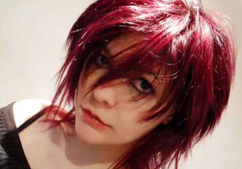Аниме-укладка на короткие волосы