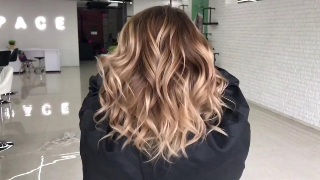Балаяж на русые волосы короткие волосы