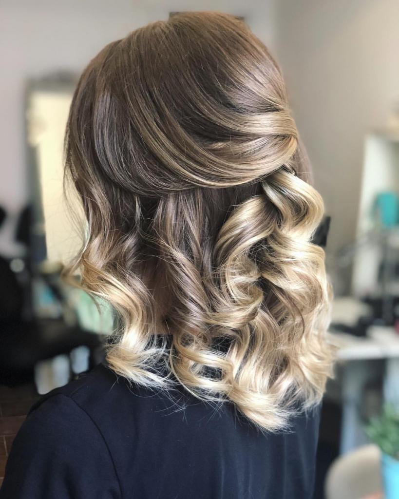 Балаяж на короткие волосы русые