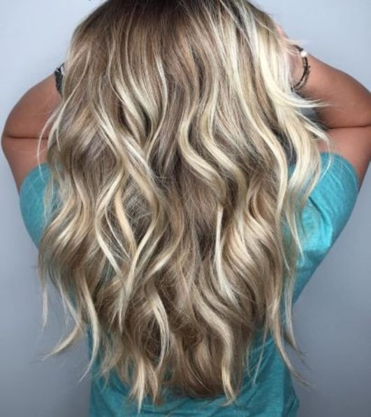 Балаяж на русые волосы длинные волосы