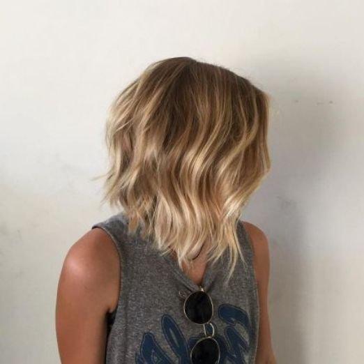 Балаяж на прямые русые волосы