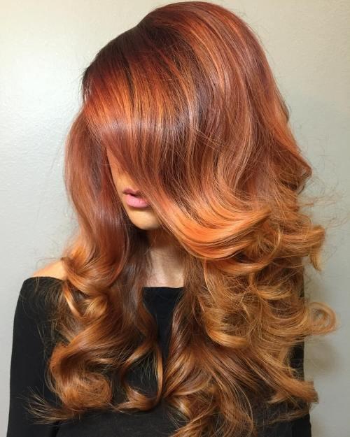 Имбирно-рыжий цвет волос
