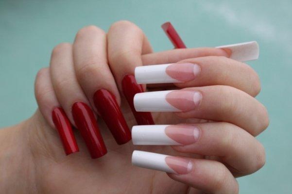 идеи маникюра на длинные острые ногти