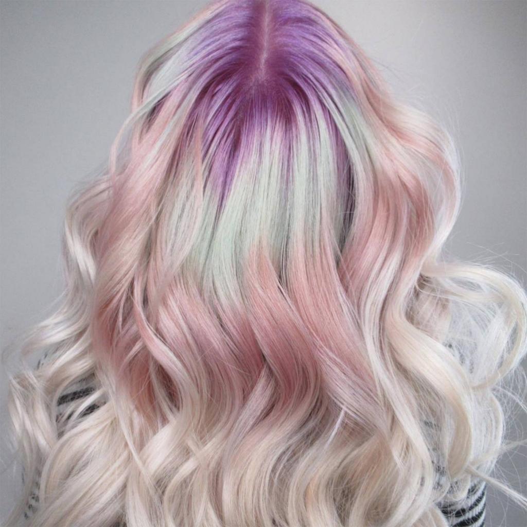 колорирование на светлые волосы фото