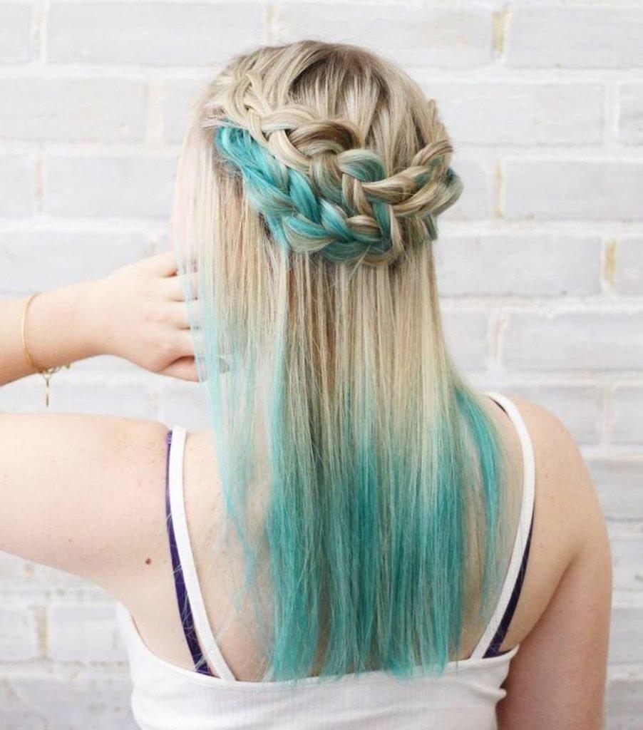 колорирование на светлые волосы светлыми прядями