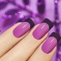 Маникюр фиолетовый: интересные идеи, примеры сочетания цветов, фото