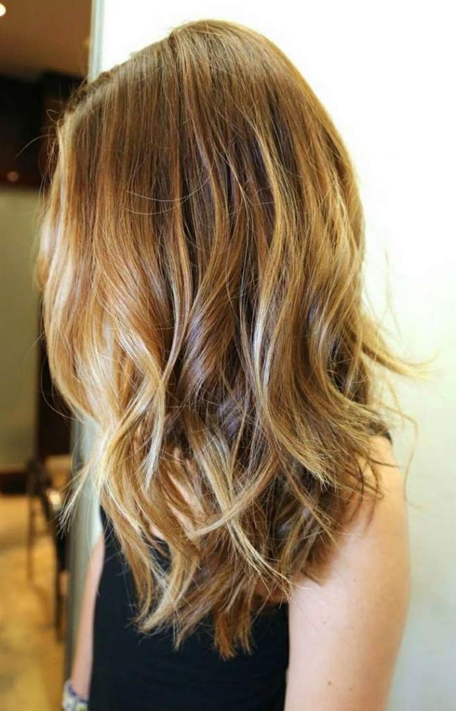 средние волосы укладка