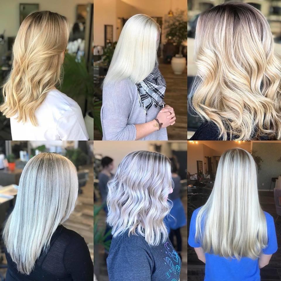 разные оттенки блонда