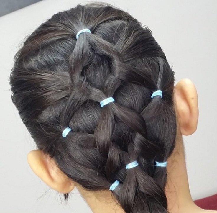 сетка на густых волосах