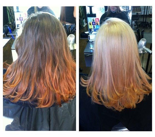 осветлить пряди волос