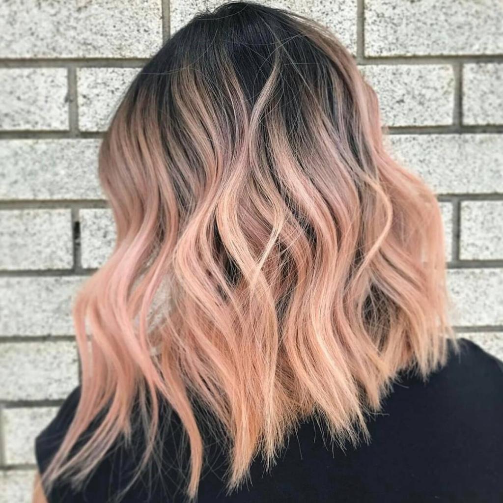 персик цвет волос