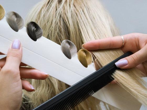 Пепельное омбре на длинные волосы