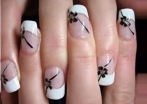 белый френч цветы