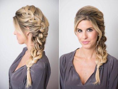 Объемные косы на длинные и средние волосы. Плетение объемной косы с резинками