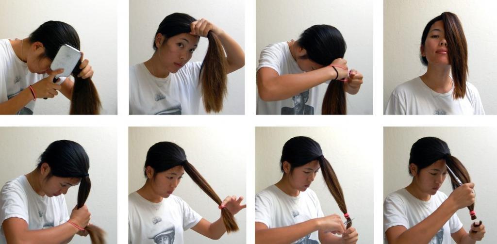 как правильно подравнять длинные волосы