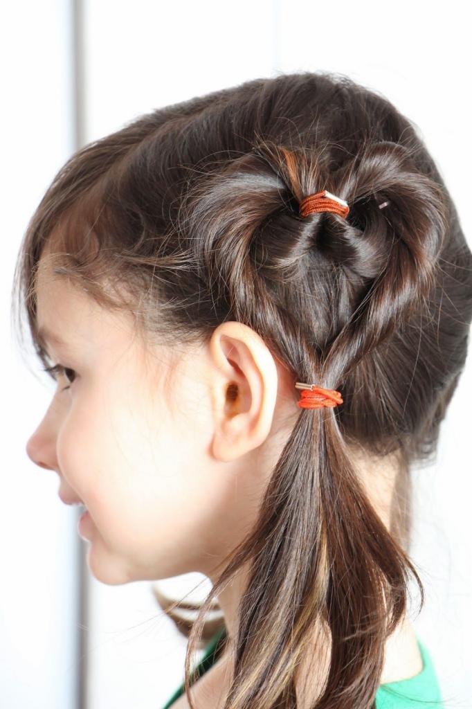 Сердечки из волос