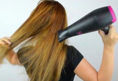 Советы: как правильно сушить волосы феном