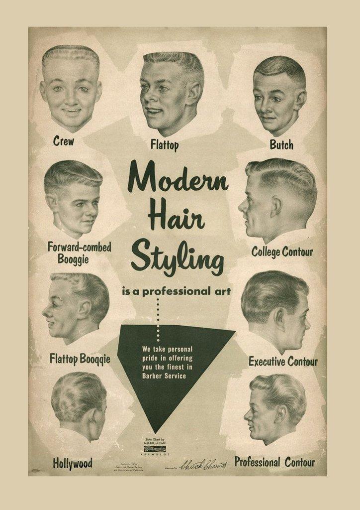 стрижки 60 х годов фото мужские