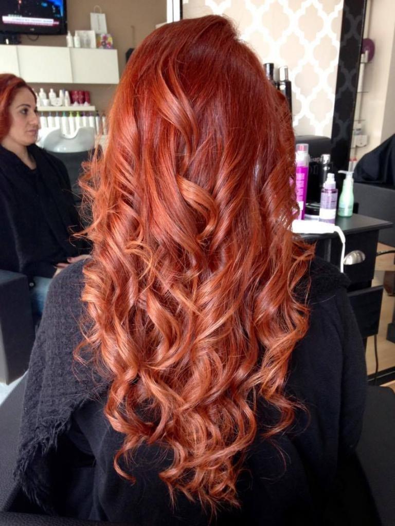 Результат окрашивания волос краской Лисап