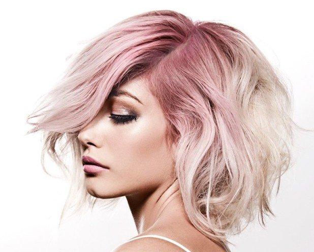 цвет волос жемчужный розовый